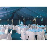 Quality Waterproof White Large Wedding Tents With Roof Linings / Curtains  20m * 50m for sale