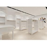 Buy Retail Store Furniture / Children'S Store Fixtures White Lacquer Finished Surface at wholesale prices