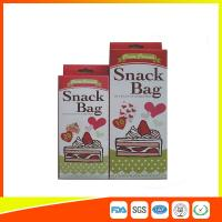 Quality Custom Colored Printed LDPE Reusable Ziplock Snack Bag / Sandwich Bags for sale