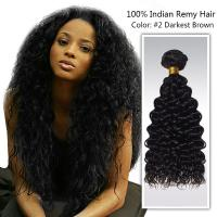 Quality 18 inch soft virgin indian remy hair / Unprocessed Human Hair Bundles for sale