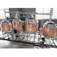Quality Anti-Aging Electric Copper Beer Brewing Machine No Dead Corner Welding for sale