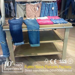 Quality Custom store garment hanger flooring display stand for sale