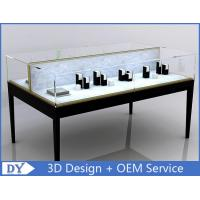 Quality Custom Black Metal MDF Double Side Jewellery Showcase Display for sale