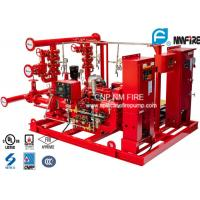 Quality UL / NFPA20 Skid Mounted Fire Pump Package 300GPM Ductile Cast Iron Materials for sale