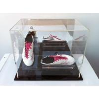 Quality clear acrylic shoe boxes plexiglass acrylic shoe display case with lid for sale