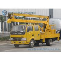 Quality 14M Articulated Booms High Altitude Operation Truck IVECO Yuejin Double Row Cabin for sale