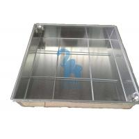 Quality Ground Square Drain Grate Covers Steel Grates For Drainage 600 * 600 * 80mm for sale
