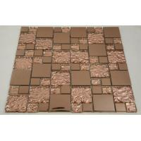 Quality Beautiful Bronze Mixed Square Glass Mosaic Tile Churchill Hotel Backsplash Usage for sale