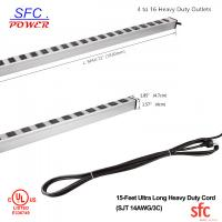 "Buy 24"" Horizontal Metal Multi Socket Extension Lead Grounded 16 Way With Circuit Breaker at wholesale prices"