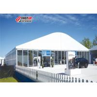 Quality White New Product Show Clear Span Tent Arcum Shaped Fabric Cover & Sidewalls for sale