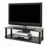 Quality TV Stand with Tempered Glass and Aluminum Tube, Customized Colors are Welcome for sale