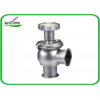 Quality Hygienic Sanitary Manual Flow Regulating Valve Butt Weld / Tri Clamp Connection Ends for sale