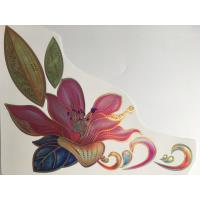 Quality Gold Luster Ceramic Waterslide Decals , Durable Ceramic Transfer Printing Paper for sale