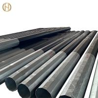 Quality Height 10M Galvanised Power Pole , Galvanised Steel Posts 330daN 300daN for sale