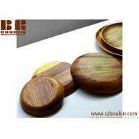 China Super KD Wooden Serving Tray Decorative Round Tray Serve for Food Coffee or Tea (25cm, Brown) on sale