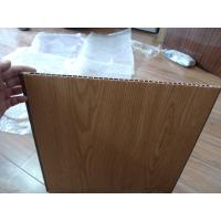 Buy Heat Insulation PVC Wall Panel Wooden Color 40cm x 12mm For Office Decor at wholesale prices