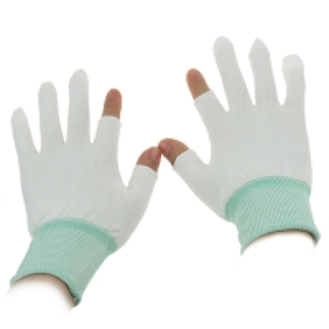 Quality S M L XL 10g Half Finger Palm Fit ESD Carbon Gloves for sale
