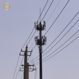Quality 20 Side 30M 36M 40M Telecommunication Pole For Internet for sale