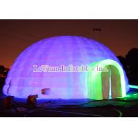 Quality Two Doors Inflatable Dome Tent With Powerful Blower Internal Lighting for sale