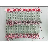 Quality 5050 6 LED 12V Module light red color waterproof outdoor building decoration for sale