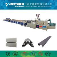 Quality PVC Wood Plastic Composite Production Line Automatically High Speed 380 V for sale