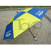 Quality 30 Inch Double Canopy Vented Travel UmbrellaWindproof Black Metal Shaft for sale