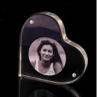 Quality Heart Shape Acrylic Block Photo Frames With Good Fashion for sale