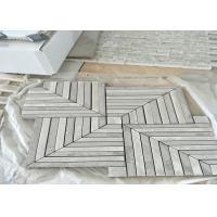 Quality WhitMarble Mosaic Tile , marble mosic floor tile 10mm Thickness 302x302mm Sheet Size for sale