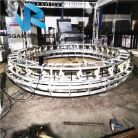 Quality Led Display Rotating Revolving Truss Adjustable Double Height for sale