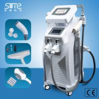 Quality CE approval 3 in1 elight ipl SHR RF nd yag laser Double screen same time work for hair removal ipl beauty machine for sale