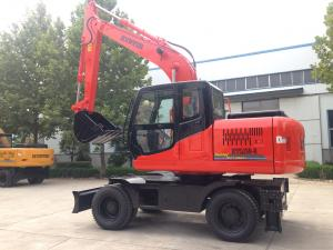 Quality 25MPa Rubber Tire Earth Excavation Machine for sale