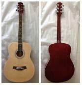 Quality 40 inch Wood Acoustic Guitar blue / yellow with Basic Style AF4010A for sale