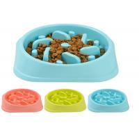 Slow Eating Plastic Pet Bowls Food Grade ABS Middle Size For Small Animals