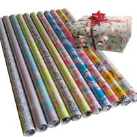 Quality 30inch x 120inch gift wrapping paper 80gsm coated paper christmas wrapping paper for sale