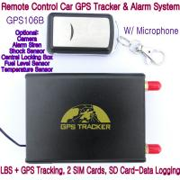 Quality GPS106B Car Safety Vehicle GPS Tracker W/ Armed by remote-controller & geo-fencing Alarm for sale