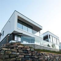 Buy cheap Aluminum U channel profile clear tempered glass balustrade for Balcony from wholesalers