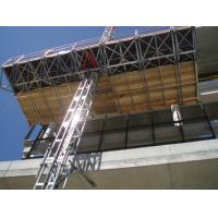 Quality 1 x 4 Kw Motor 2.4m Width Mast Climbing Work Platforms Facades for Office Building for sale