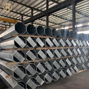 Quality 26.3 Km 33kV Steel Tubular Swaged Pole For Power Evacuation Transmission Line for sale