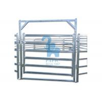 Buy Free Standing Livestock Metal Fence Panels , Goat Corral Panels With 6pcs Pole at wholesale prices