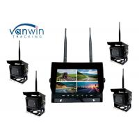 Quality 2.4G 4CH Car Video Wireless DVR system 7 Inch Monitor With 128GB SD Card for sale