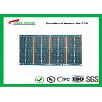 Quality Multilayer Quick Turn PCB Prototypes 4 layer FR4 1.2mm Blue Solder Mask Panel Size 160*80mm for sale