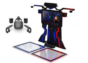 Quality Amusement Interactive 9D Vr Shooting Simulator VR Walk Platform For 2 Players for sale