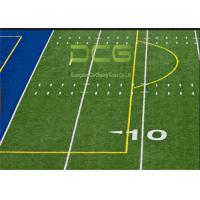 Buy Realistic Looking Soccer Artificial Grass Rug Strong Wear Resistant PE Material at wholesale prices