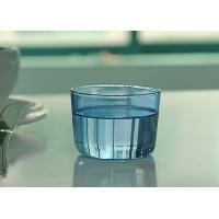 Quality Colored high borosilicate pyrex double wall drinking glasses , Light blue for sale