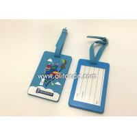 Quality Blank pvc luggage tags custom logo image words numbers can be added for sale