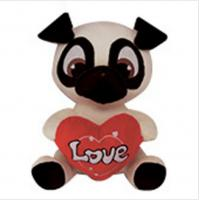 Quality PUG Soft Animal Holiday Plush Toys PUPPY DOG Doll For Birthday Gift for sale