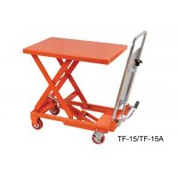 China Portable Hydraulic Scissor Lift Table Trolley , Heavy Duty Lift Table TF15 TF15A on sale