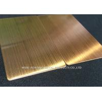 Quality Yellow Ti 304 Stainless Steel Surface Finish Corrosion Resistance For Decoration for sale