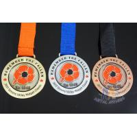 Buy cheap Antique Brass Plating Bespoke Logo Competition Medals Recess Sandblasted Effect from wholesalers