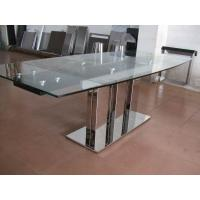 Quality Indoor Furniture Tempering Glass Rectangular Coffee Table Transparent for sale